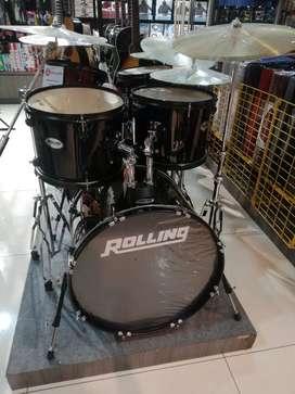 RollingDrum Set 5Pcs Jb-1226-Bk Cicilan Cepat Tanpa CC Tanpa DP 0%