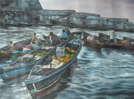 Lukisan Pasar Apung