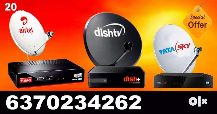 AIRTEL ! VIDEOCON D2H ! DTH CONNECTION ! TATA SKY,  DISH TV 0