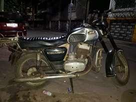 My vintage Ideal Jawa Yezdi double silencer antique bike 250 cc