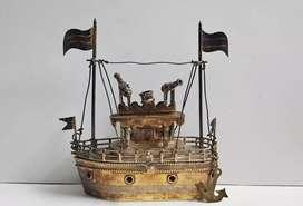 ANTIQUE STERLING SILVER FILIGREE SHIP