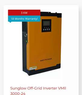 We want to sale 3 kW maxpower vm2 inverter with warranty.