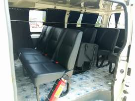 Toyota Hiace available for booking tour shift