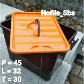Box Plastik 40 Liter Tutup Orange