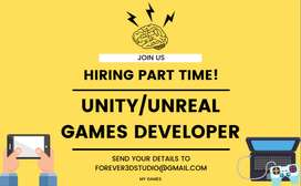 Part Time Unity Developer Required