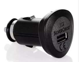 Car  Charger 2.1 Amp  Silver  Crest  (Imported)