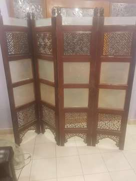 Beautiful wooden partition