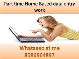 home based job available typing work part time data entry job