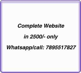 Website in 2499/-, Free Domain and hosting, 5 pages, Seo friendly etc.