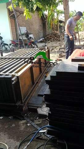 Cetakan beton panel stok banyak