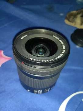 Lensa Canon 10 18mm stm mulus