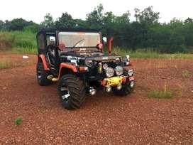 Open modified jeep hunter Mahindra car