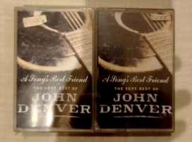 Kaset  ori segel  : John Denver a songs best friend the very best of