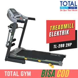 Treadmill elektrik murah TL-288 alat fitness rumahan BISA COD