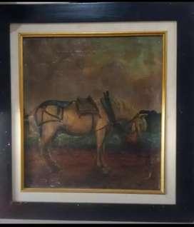 Lukisan Kuda Putih Le Manfong