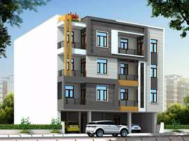 New 3 bhk flats Rangoli garden road