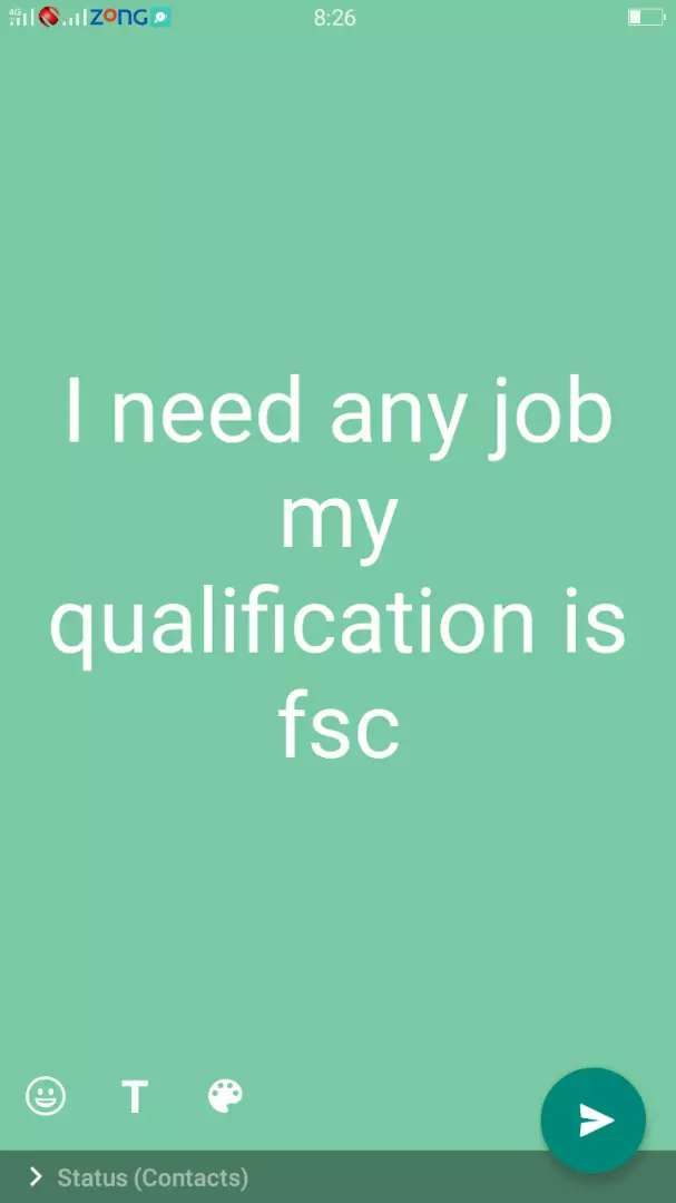 I need any job in kasur my qualification fsc 0