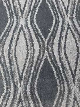 Blue used carpet in good condition big size