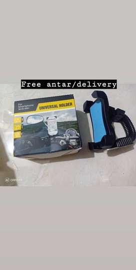 Free ongkir-Holder motor jepit spion/phone holder model X fleksible