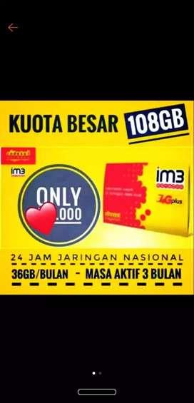Perdana Indosat 108GB 3bulan