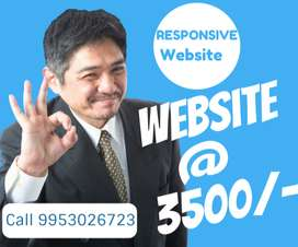 Dynamic website at rs 3500/- with unlimited hosting