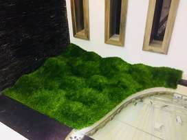 Artificial  grass & Zebra  Blinds