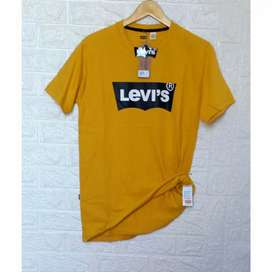 Kaos levi's bahan cotton combed 24s