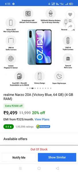 Narzo 20a best mobile
