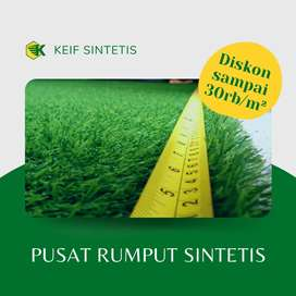 Rumput sintetis kondisi baru bisa diantar