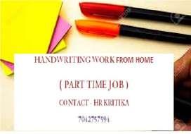 HAND WRITING WORK -PART TIME JOB