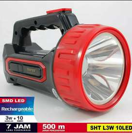 Lampu Senter 2 in 1 ( Rechargeable )