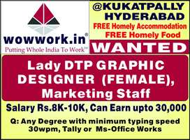 Urgently Requred Female DTP Operator/ Graphic Designer CorelDraw,Photo
