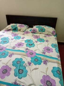 Double bed with spring matress