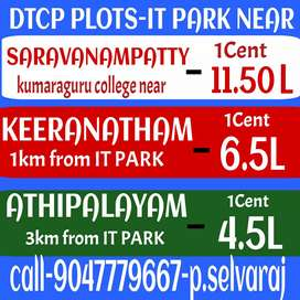 Saravanampatti IT company near DTCP PLOTS sale