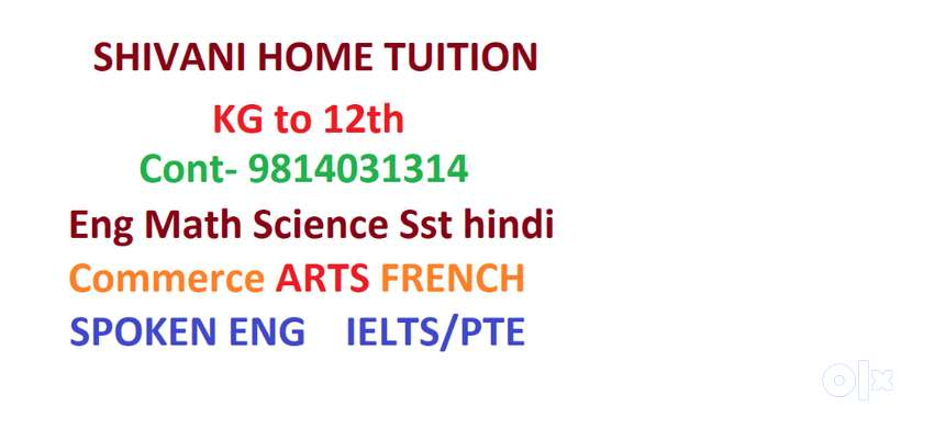 Req Home Tutors in Amritsar all locations,free registration KG to 12th 0