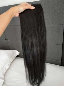 Hair clip rambut asli