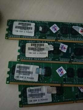 RAM Merk Visipro DDR2 1GB PC 6400