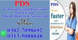 We Provide Professional All Domestic Nursing Staff 24/7
