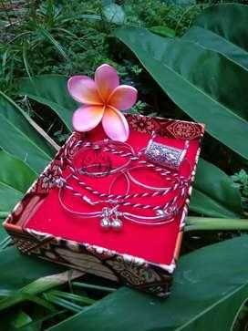 Set Perhiasan Bayi Kalung Liontin Bandong Blandong Gelang Cincin Bali