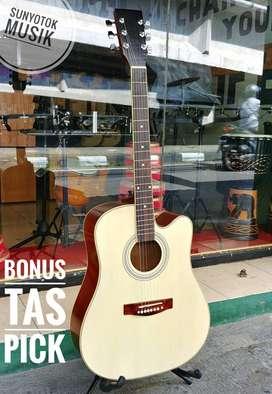 Gitar Akustik Jumbo Model Fender