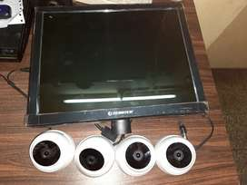 Cctv, monitor with Dvr full Set Condition- Used like new purchesd