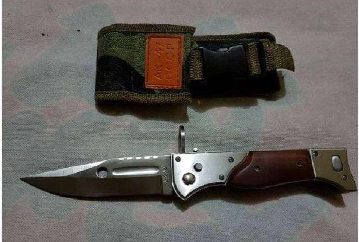 Pisau Lipat AK pendek pisau ak + sarung 0
