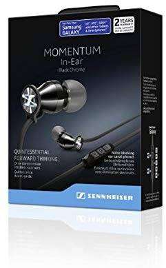 Sennheiser Momentum M2 IEG Wired Headset with Mic  (Black, In the Ear)