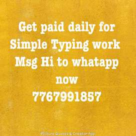 Get daily payment in your account for typing work
