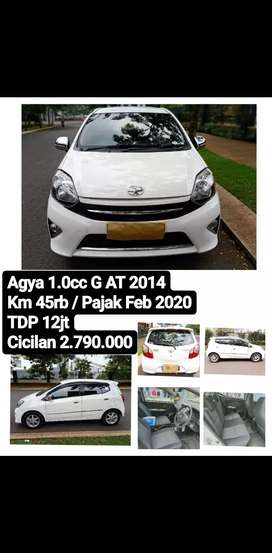 Dp10 jt Agya G AT 2014 Matic Automatic Km Low bukan TRD Top Condition