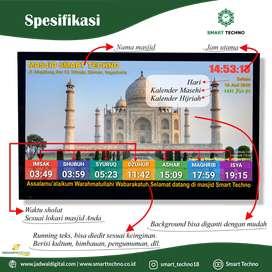 Tersedia Jam Masjid TV Led Ekonomis