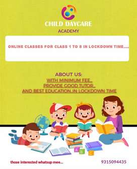 Online class for class 1 to 8...all over country students