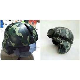 Helm pilot loreng army