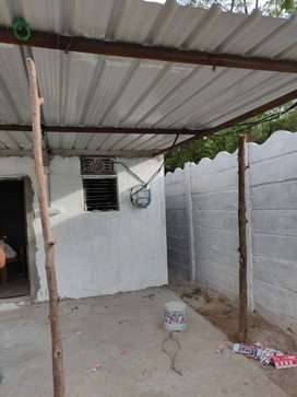 Plot with Compound wall and room for rent