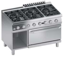COOKING GAS RANGE 6 BURNERS (ONLY COMMERCIAL USE)